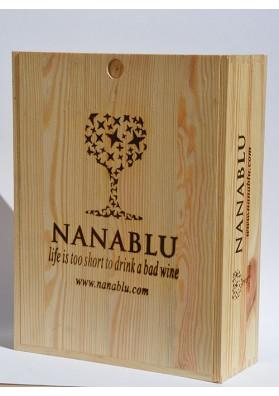 Cassetta legno per vino da 3 bottiglie